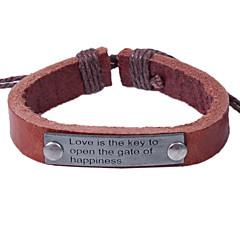 preiswerte Armbänder-Herrn Armband - Leder Alphabet Form Einfach, Europäisch Armbänder Schwarz / Kaffee Für Alltag Verabredung