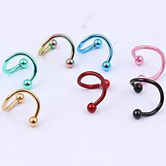 olcso Testékszerek-Női Testékszer Ajak piercing Labret, Lip Piercing Jewelry Fül piercing orr Piercing Rozsdamentes acél Egyedi Divat Ékszerek ÉkszerekParti