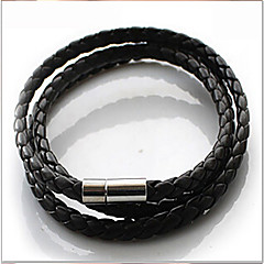 Men's Wrap Bracelet Basic Fashion Plaited Leather Jewelry Jewelry Daily Casual Sports