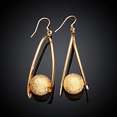 preiswerte Ohrringe-Tropfen-Ohrringe vergoldet Tropfen Gold Schmuck 2 Stück