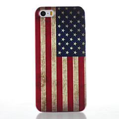 Mert iPhone 5 tok Jeges / Minta Case Hátlap Case Zászló Kemény PC iPhone SE/5s/5