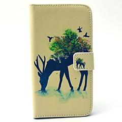 Για Samsung Galaxy Θήκη Θήκες Καλύμματα Πορτοφόλι Θήκη καρτών με βάση στήριξης Πλήρης κάλυψη tok Ζώο Σκληρή PU Δέρμα για SamsungS6 edge