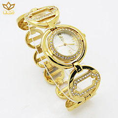abordables Relojes Florales-reloj de esfera redonda reloj informal correa de aleación de cuarzo del reloj de las mujeres (colores surtidos)