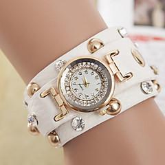 お買い得  大特価腕時計-yoonheel 女性用 ブレスレットウォッチ ホット販売 レザー バンド ボヘミアンスタイル / ファッション ブラック / 白