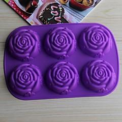 bakeware szilikon emelkedett sütőformák a csoki torta zselé (véletlenszerű szín)