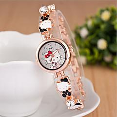 preiswerte Damenuhren-Damen Armbanduhr Quartz Schlussverkauf Legierung Band Analog Charme Modisch Schwarz / Weiß / Blau - Purpur Rot Blau