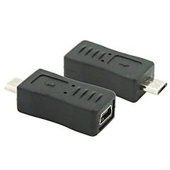 Micro USB 2.0 męski na mini USB 2.0 wtyk żeński złącze adaptera konwertera