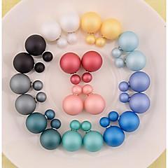 お買い得  イヤリング-女性用 真珠  -  ファッション ピンク ライトブルー ダークグリーン イヤリング 用途 日常