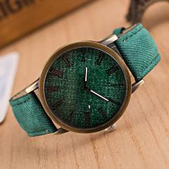 preiswerte Herrenuhren-Herrn Armbanduhr Armbanduhren für den Alltag Leder Band Retro / Freizeit Schwarz / Weiß / Blau / SSUO 377