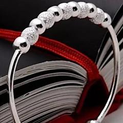 お買い得  ブレスレット-女性用 カフブレスレット  -  純銀製 ブレスレット シルバー 用途 クリスマスギフト / 結婚式 / パーティー