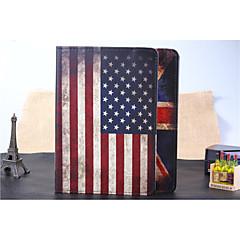 stå pu læderetui til iPad luft / 5 (fagforeningen flaget / USA flag)