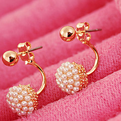 Women's Stud Earrings Bridal Fashion Costume Jewelry Pearl Imitation Pearl Alloy Ball Jewelry For Wedding Party Daily