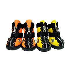 Köpek Ayakkabılar ve Botlar Su Geçirmez Tek Renk Turuncu Sarı Evcil hayvanlar için