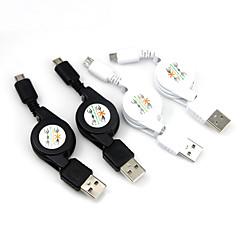Micro USB rétractable à câble de recharge USB de données pour Samsung Galaxy s3 s4 s5 HTC Huawei téléphones mobiles