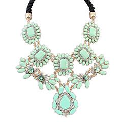 preiswerte Halsketten-Damen Halsketten - Harz damas, Luxus, Europäisch Rosa, Regenbogen, Leicht Grün Modische Halsketten Schmuck Für Alltag