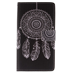 For Samsung Galaxy Note Pung Kortholder Med stativ Flip Etui Heldækkende Etui Drømmefanger Kunstlæder for Samsung Note Edge
