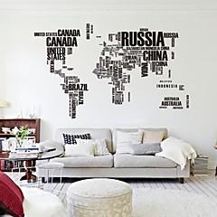 190cm * 116cm 큰 세계지도 벽 스티커 원래 zooyoo95ab 문자지도 벽 예술 침실 벽 데칼