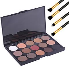 15 szín szakmai meleg smink meztelen szemhéjpúder matt pislákol paletta kozmetikai + 4db ceruza smink ecset