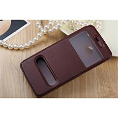 Недорогие Чехлы и кейсы для HTC-Кейс для Назначение HTC Desire 816 Другое HTC HTC Desire 826 HTC Desire 820 Кейс для HTC со стендом с окошком Флип Чехол Сплошной цвет