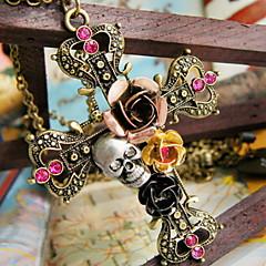 Női Nyaklánc medálok Flower Shape Cross Shape Skull shape Rózsa Ötvözet jelmez ékszerek Ékszerek Kompatibilitás Halloween