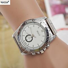 お買い得  メンズ腕時計-男性用 ドレスウォッチ クォーツ デザイナー スイスの 合金 バンド ハンズ シルバー