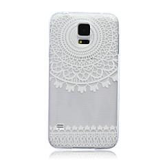 Para Funda Samsung Galaxy Traslúcido Funda Cubierta Trasera Funda Diseño de Encaje TPU SamsungS6 edge / S6 / S5 Mini / S5 / S4 Mini / S4