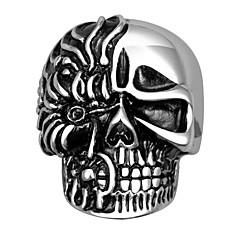 Pierścionki Skull shape Ślub / Impreza / Codzienny / Casual / Sport Biżuteria Stal tytanowa Męskie Duże pierścionki 1szt,9 / 10