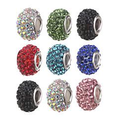 preiswerte Perlen & Schmuck machen-diy Perlen Metall / Rhinestone-Schlauchform Kristall Perlen mit großem Loch 1pcs