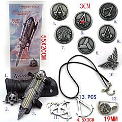 Biżuteria / Znaczek Zainspirowany przez Assassin's Creed Ezio Anime / Gry Video Akcesoria do CosplayNaszyjniki / Rękawice / Znaczek /