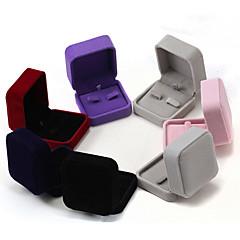 tanie -Pudełka na biżuterię Flanela 1szt Dark Blue / Czarny / Czerwony / Fioletowy / Szary / Różowy