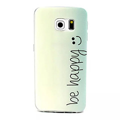 Para Funda Samsung Galaxy Diseños Funda Cubierta Trasera Funda Palabra / Frase TPU SamsungS6 edge / S6 / S5 Mini / S5 / S4 Mini / S3 Mini