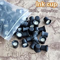 スポンジインクキャップホルダーインクリング付きの100pcs /袋アートメイク用インクカップ