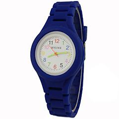 preiswerte Damenuhren-Armbanduhr Armbanduhren für den Alltag Silikon Band Charme / Freizeit Schwarz / Weiß / Blau