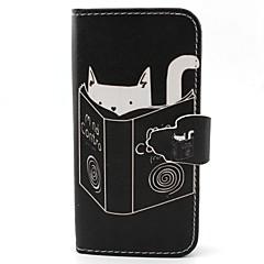 Για Samsung Galaxy Θήκη Θήκη καρτών / Πορτοφόλι / με βάση στήριξης / Ανοιγόμενη tok Πλήρης κάλυψη tok Γάτα Συνθετικό δέρμα SamsungS6 edge