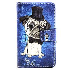 Voor Nokia hoesje Portemonnee / Kaarthouder / met standaard hoesje Volledige behuizing hoesje Hond Hard PU-leer NokiaNokia Lumia 830 /