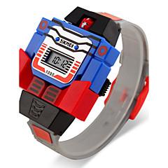 お買い得  メンズ腕時計-SKMEI デジタルウォッチ カレンダー / LCD ラバー バンド カトゥーン / ファッション ブルー / レッド / グレー / 2年 / Maxell626 + 2025
