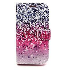 For Samsung Galaxy etui Kortholder Pung Med stativ Flip Etui Heldækkende Etui Farvegradient Kunstlæder for SamsungS6 edge S6 S5 Mini S5