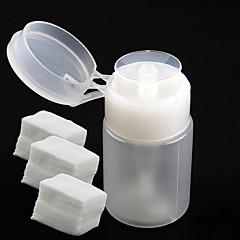 Frasco dispensador de bomba 1pc para remover + 300pcs uñas herramientas del arte del clavo de algodón arte removedor de uñas de arte