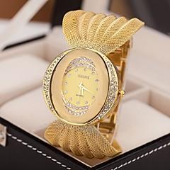 お買い得  大特価腕時計-女性用 クォーツ ドレスウォッチ 模造ダイヤモンド 合金 バンド 光沢タイプ ファッション シルバー ブラウン ゴールド