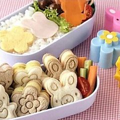 お買い得  ベイキング用品&ガジェット-かわいい熊の花のウサギのサンドイッチ金型寿司ケーキの金型卵カッター