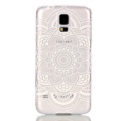 billige Galaxy S4 Mini Etuier-Etui Til Samsung Galaxy Samsung Galaxy etui Transparent Bagcover Mandala-mønster PC for S6 edge S6 S5 Mini S5 S4 Mini S3 Mini