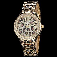 お買い得  レオパードパターン 腕時計-女性用 ファッションウォッチ クォーツ 合金 バンド 光沢タイプ レオパード ゴールド ローズゴールド