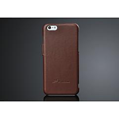 Недорогие Кейсы для iPhone 6-Кейс для Назначение Apple iPhone 6 iPhone 6 Plus Other Чехол Сплошной цвет Твердый Настоящая кожа для iPhone 6s Plus iPhone 6s iPhone 6