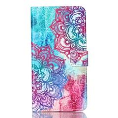 Для Samsung Galaxy Note Кошелек / Бумажник для карт / со стендом / Флип Кейс для Чехол Кейс для Мандала Искусственная кожа SamsungNote 5
