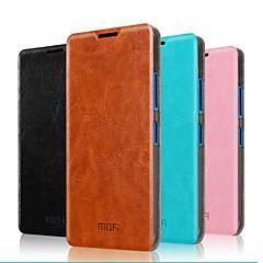Недорогие Чехлы и кейсы для Nokia-Кейс для Назначение Nokia Lumia 640 / Nokia Кейс для Nokia со стендом / Флип Чехол Однотонный Твердый Настоящая кожа для Nokia Lumia 640 XL