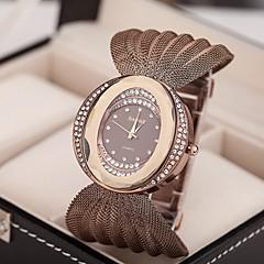 preiswerte Tolle Angebote auf Uhren-Damen Armbanduhr Imitation Diamant Legierung Band Glanz / Modisch / Kleideruhr Silber / Braun / Gold