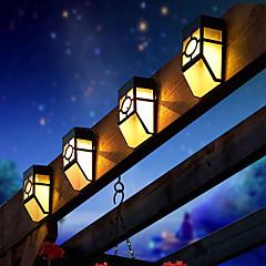olcso Kültéri lámpa és gyertyatartók-2 LED Meleg fehér Újratölthető / Dekoratív Akkumulátor