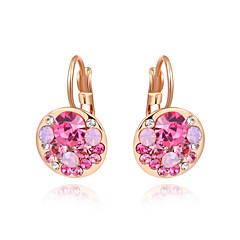 preiswerte Ohrringe-Damen Kubikzirkonia Tropfen-Ohrringe - Zirkon, vergoldet Modisch Fuchsia / Blau Für Hochzeit Party Alltag