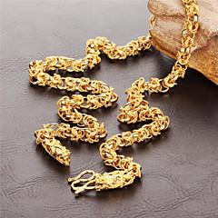 お買い得  ネックレス-男性用 チョーカー - ゴールドメッキ ネックレス 用途 結婚式, パーティー, 日常
