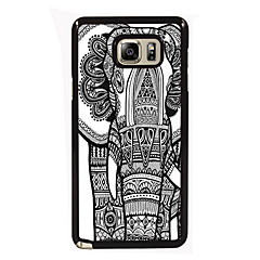 Недорогие Чехлы и кейсы для Galaxy Note 5-Для Samsung Galaxy Note Чехлы панели С узором Задняя крышка Кейс для Слон PC для Samsung Note 5 Edge Note 5 Note 4 Note 3